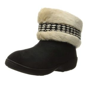 NWT Isotoner Erica Microsuede Boot Slippers